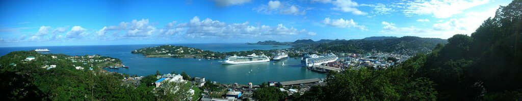 the port at castries