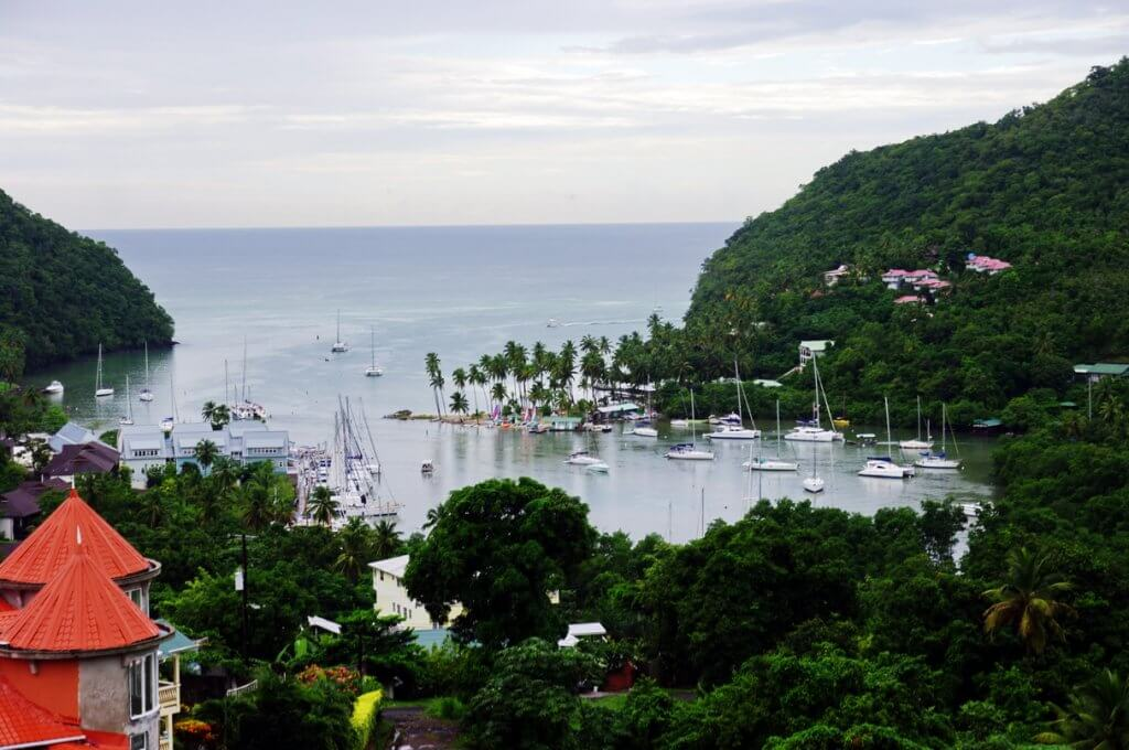 Yachts in Marigot Bay